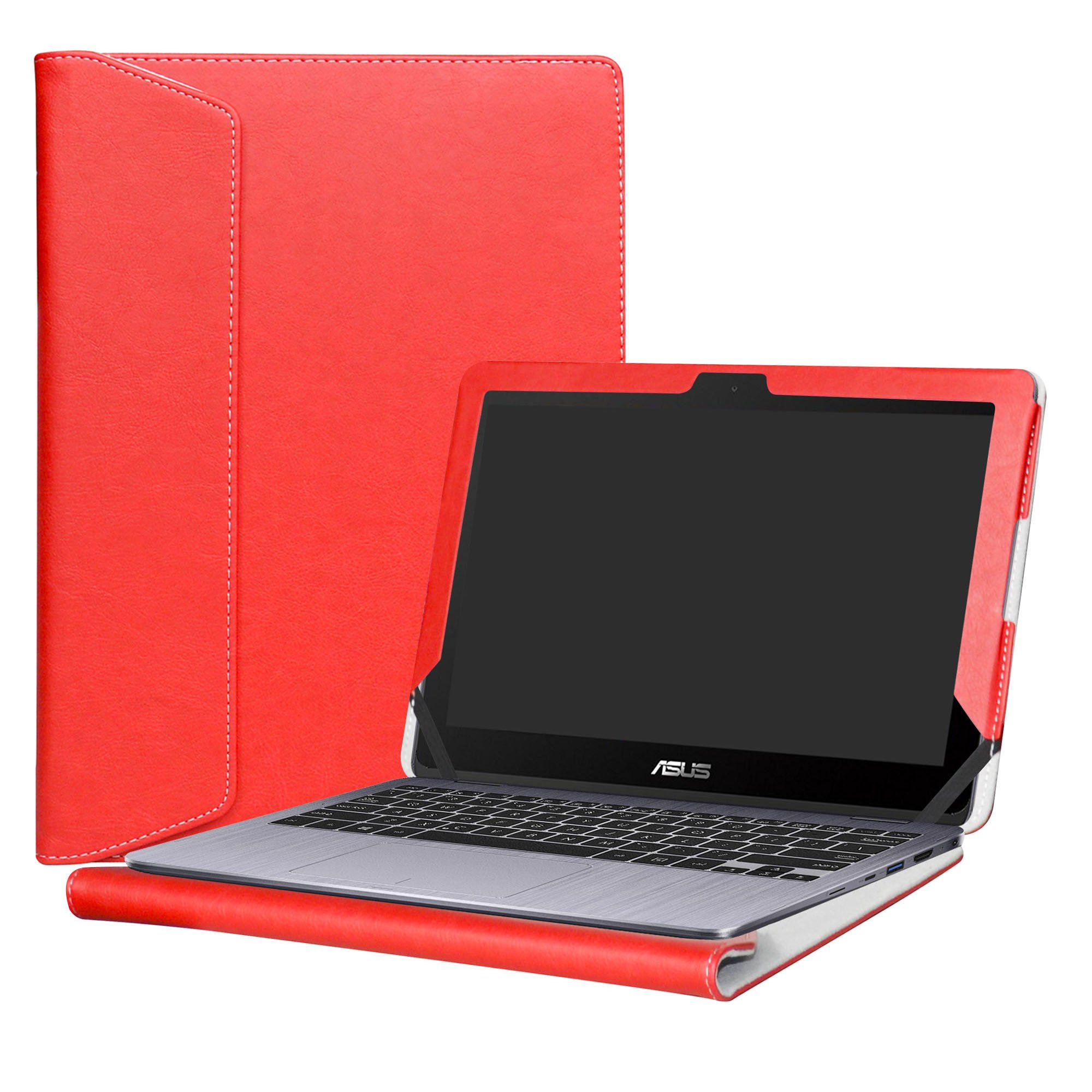 Alapmk Protective Case Cover For 11.6'' ASUS VivoBook Flip 12 TP203NA tp203na-uh01t Series Laptop(Warning:Only fit model TP203NA),Red