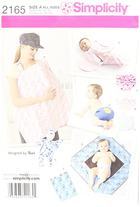 Simplicity Sewing Pattern 2165 Baby Accessories: Amazon.co.uk ...