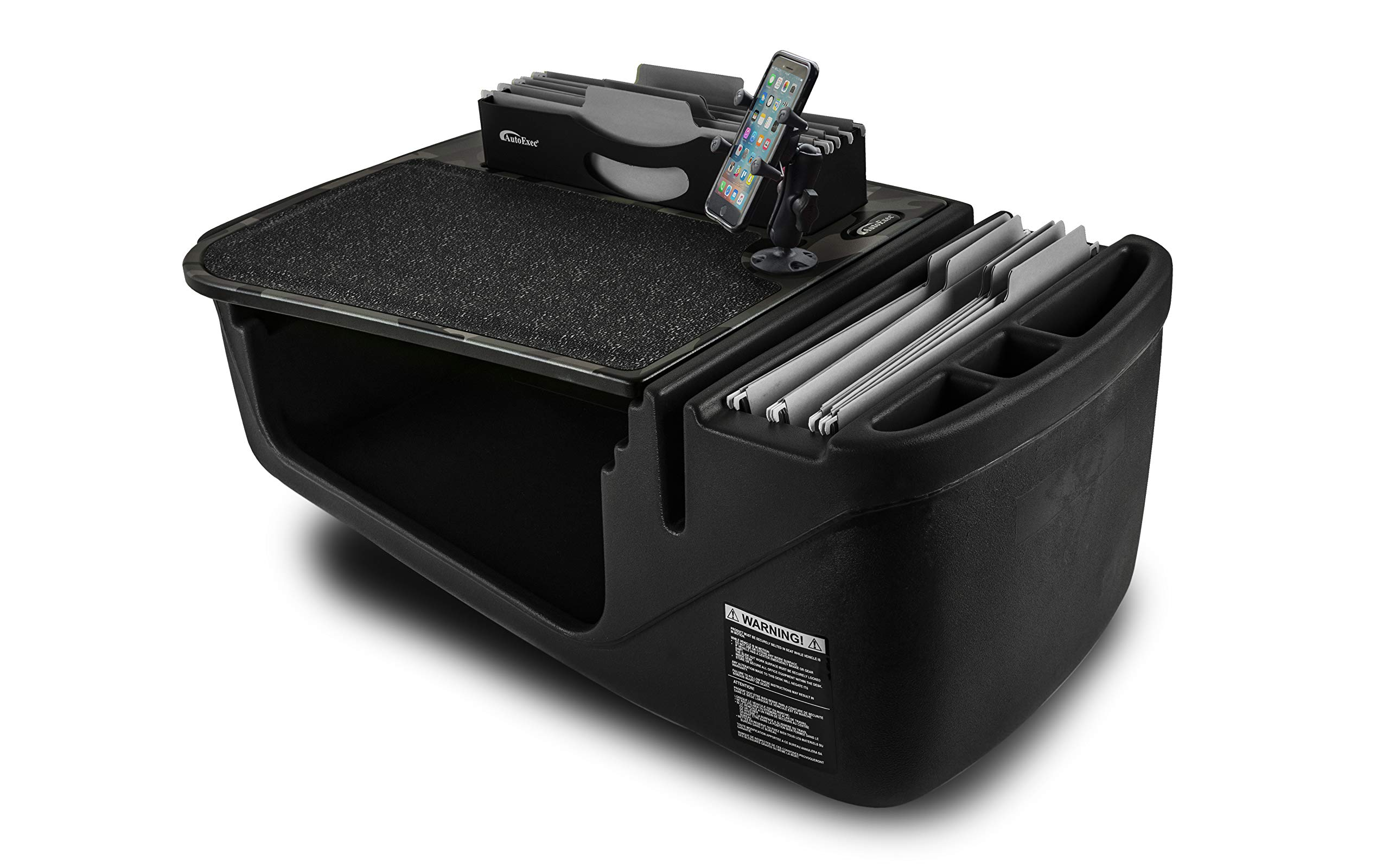 AutoExec AUE28506 FileMaster Built-in Power Inverter and X-Grip Phone Mount Car Desk AESFile-03 GC
