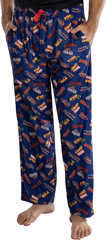 Marvel Comics hombre Logo superhéroe títulos Loungewear Pajama Pants