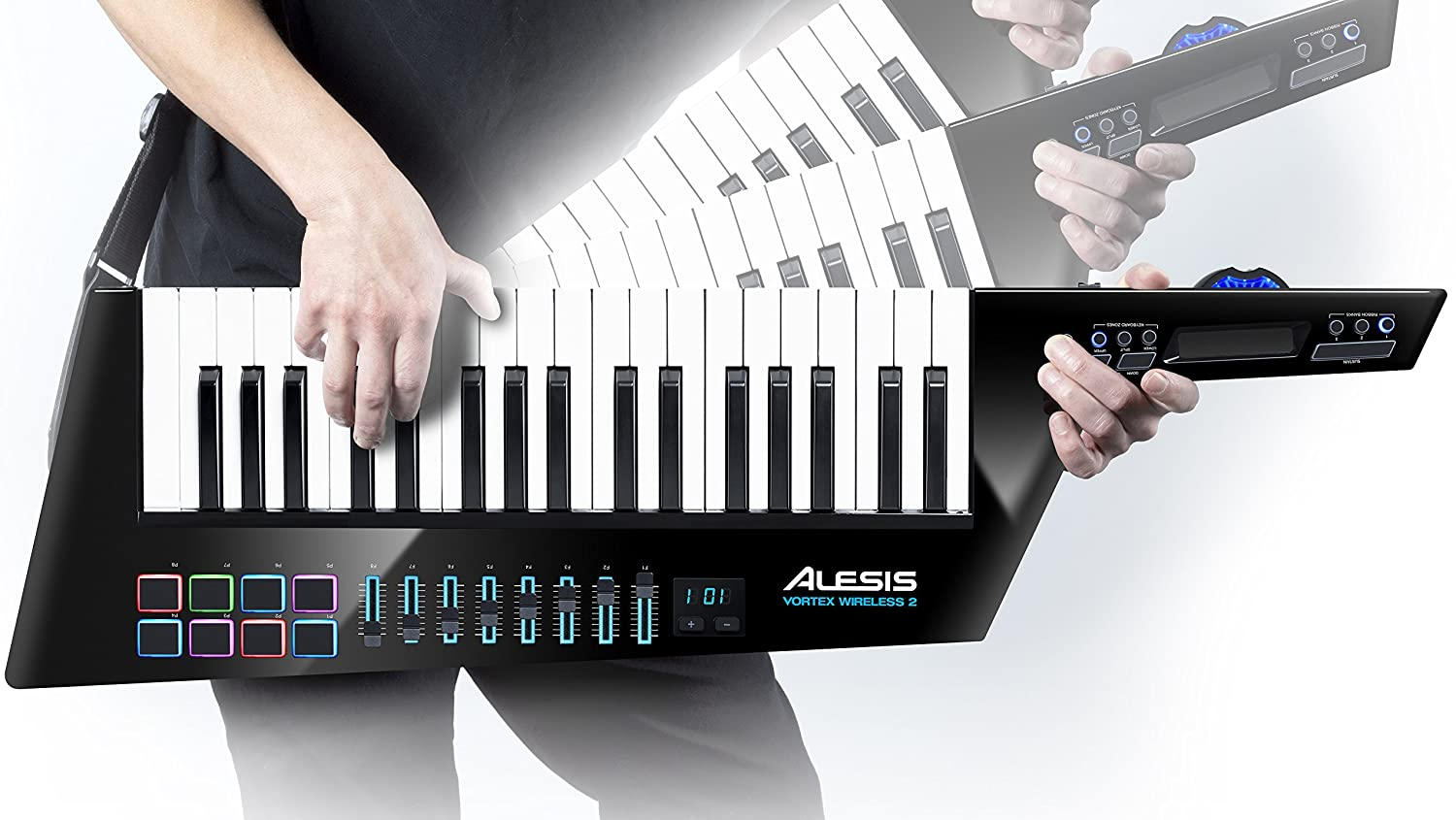 Alesis Vortex Wireless 2 - Controlador Keytar Inalámbrico USB, MIDI de Alto Rendimiento con Suite de Software Premium Incluida, color negro: Amazon.es: ...