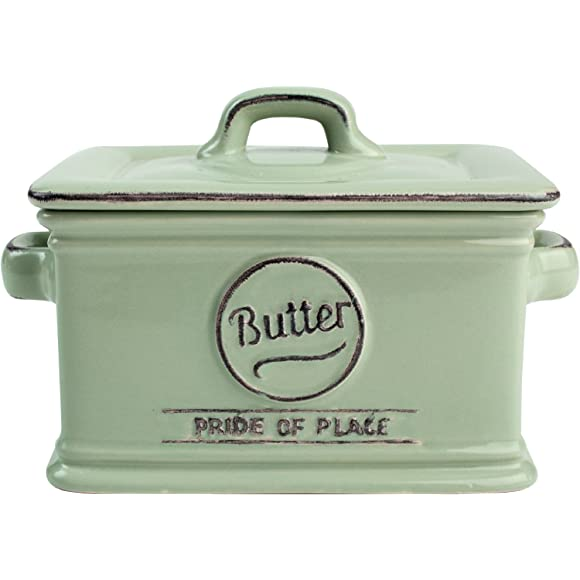 Green Pride of Place Butter Dish