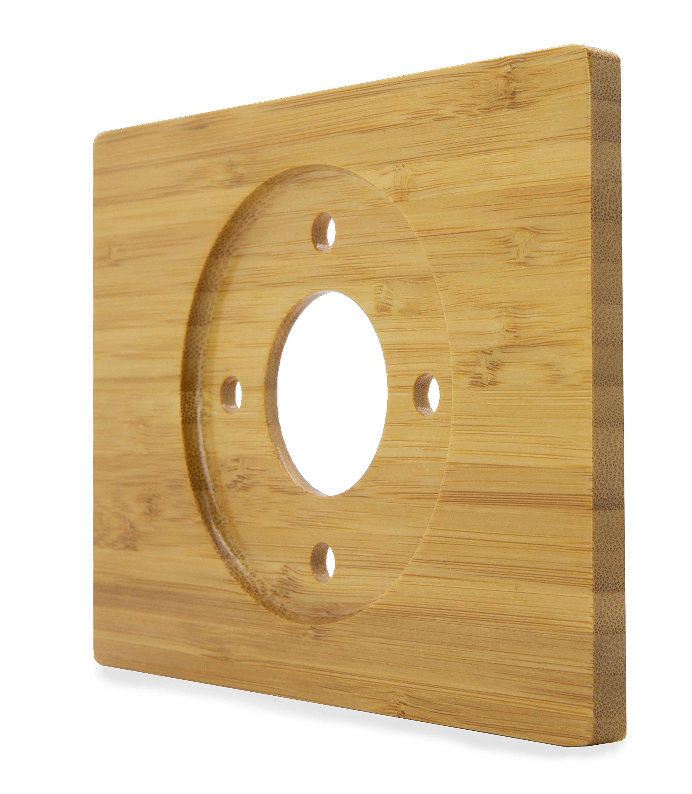 Nest Thermostat Wall Plate Cover (Solid Bamboo - Rectangle 6 x 4.4'' - Glossy Finish) for Nest Learning 1st 2nd 3rd Generation and E