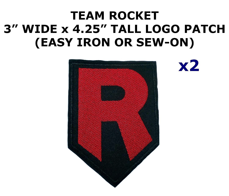 Amazon 2 Pcs Team Rocket Pokemon Theme Diy Iron Sew On