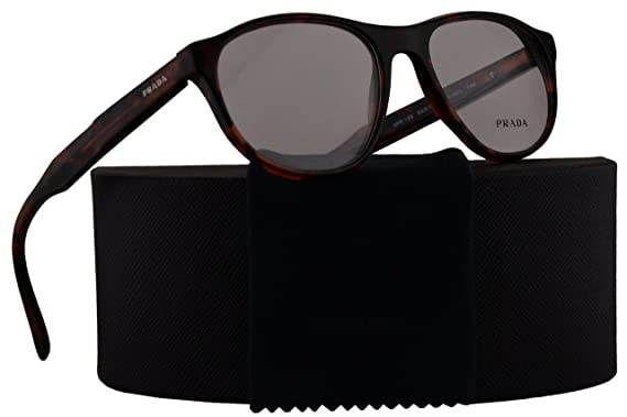 1db843ce74fc Image Unavailable. Image not available for. Color  Prada Journal PR12SV Eyeglasses  52-18-140 Brown Red Havana w Demo Clear