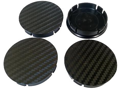 CARBON 4 piezas Buje Tapas 60mm Tapas Centrales Tapas para Llantas Tapas de Rueda Hubcaps (