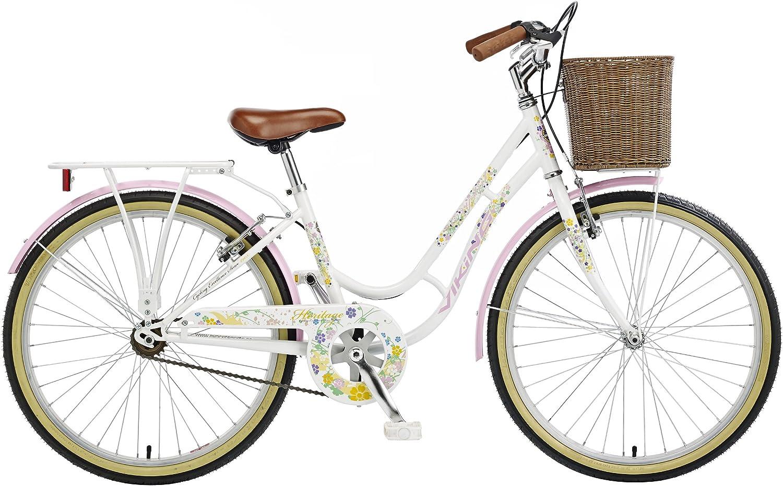 Viking cristal, sola velocidad, 60,96 cm rueda bicicleta, blanco ...
