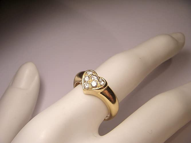 1bb0e7f4b Image Unavailable. Image not available for. Color: Authentic 18K Yellow  Gold Tiffany & Co. Diamond Pave ...