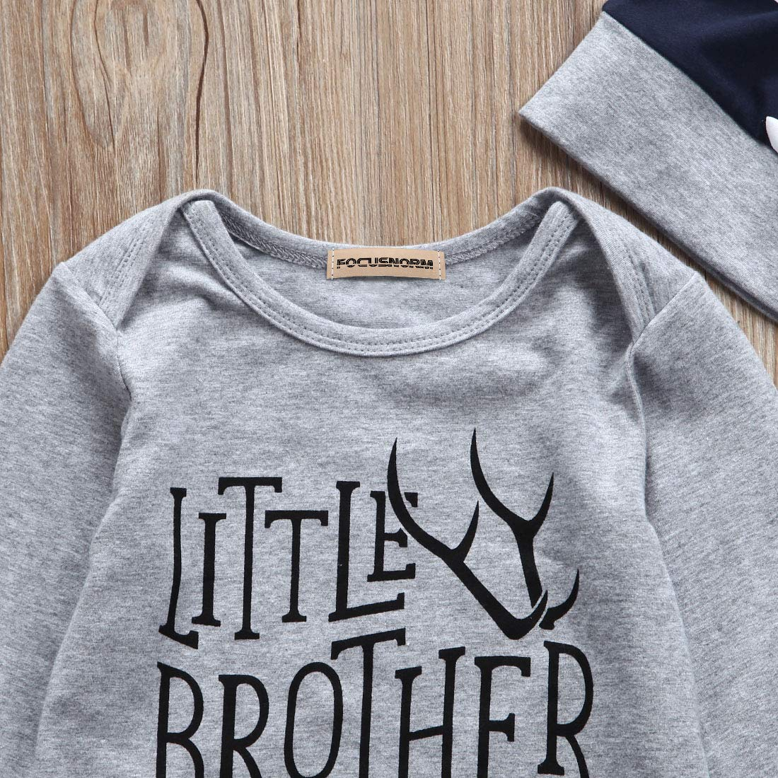 Ciervo Estampado Ropa para Hermano peque/ña Hermano Grande Pantalones Leggings Sombrero Brother Big Brother Camiseta de Manga Corta Hermano peque/ña 3 Piezas de Ropa para beb/é