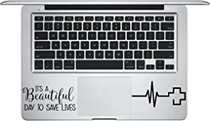 Laptop Palm Rest Sticker Decal - It's a Beautiful Day to Save Lives- Derek Sheperd Skins Stickers