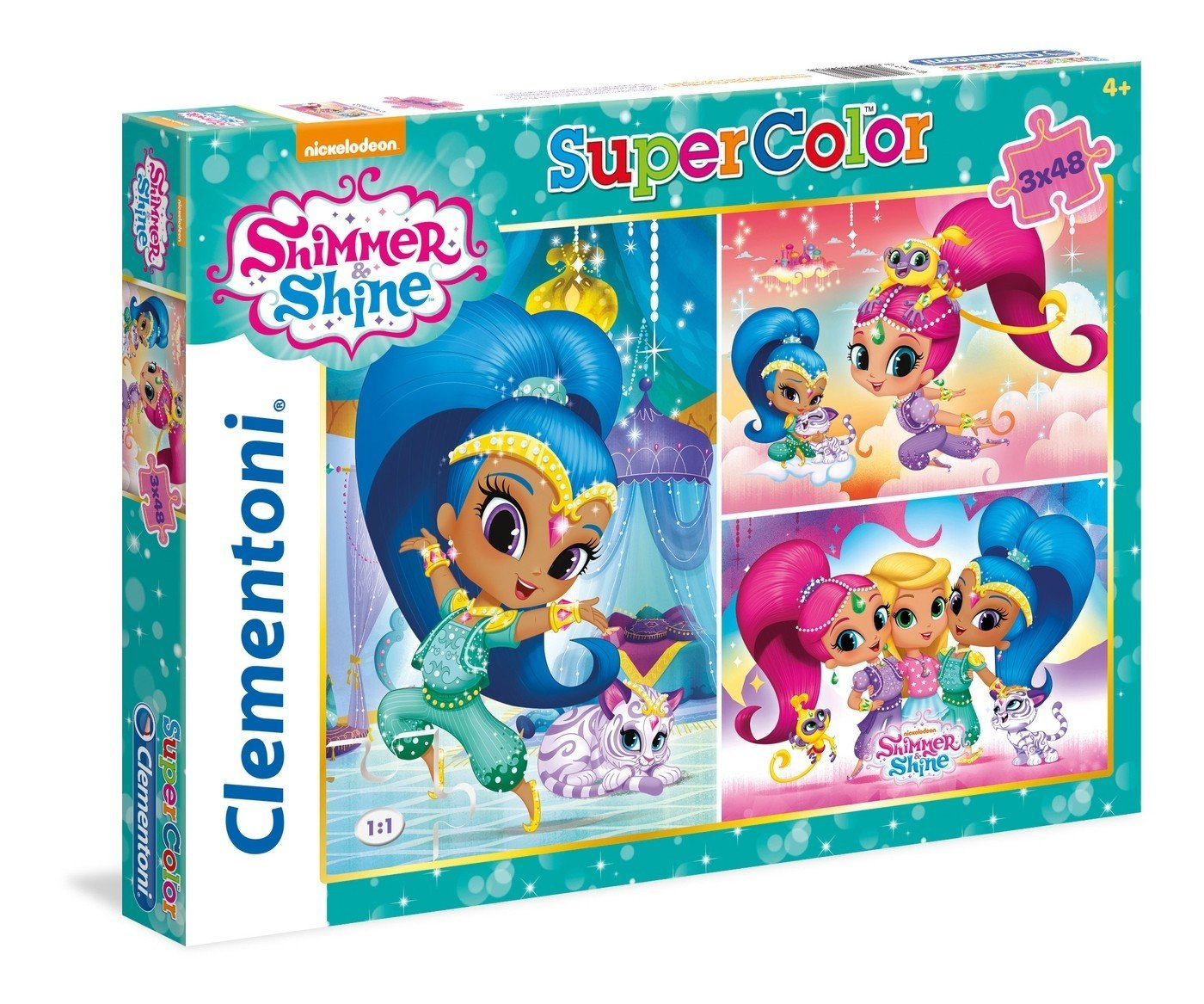 3 X 48-Piece Clementoni 25218 Shimmer and Shine Puzzle