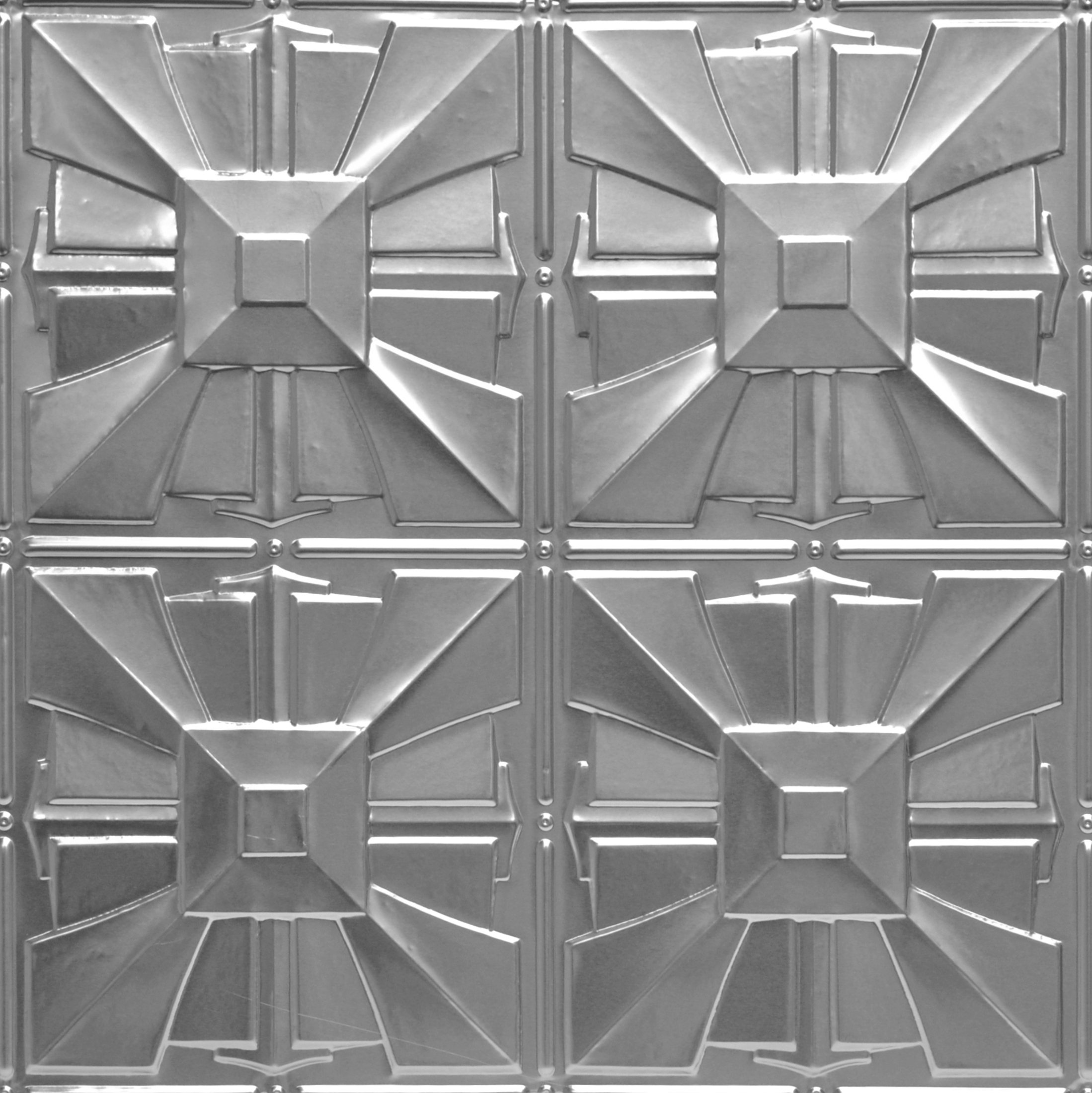 Shanko ST314DA Pattern 314 Authentic Pressed Metal Wall and Ceiling Tiles, 20 sq. ft., Unfinished Steel by Shanko (Image #1)