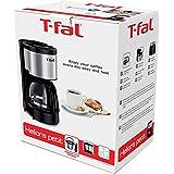 T-Fal Cafetera Heliora Petit Plata para Cafe Molido de 4 a 6 Tazas, Cafetera de Filtro Plateada con Capacidad de 0,6 Lt