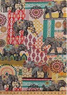 Amazon Com Ambesonne Zambia Fabric By The Yard African Ethnic