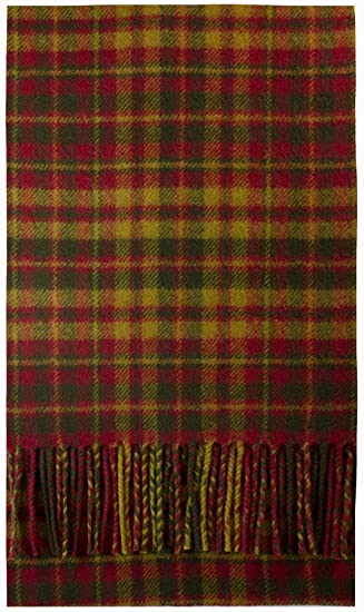 Strathearn Weathered Tartan Brushwool Scarf