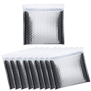 25 Pack BRUBAKER Thermal Insulated Bubble Mailers 11 x 9.8 Padded Cool Shields - Peel and Seal - Metallic foil