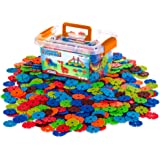 Creative Kids Flakes - 600 Piece Interlocking Plastic Disc Set for Fun, Creative Building - Educational STEM…