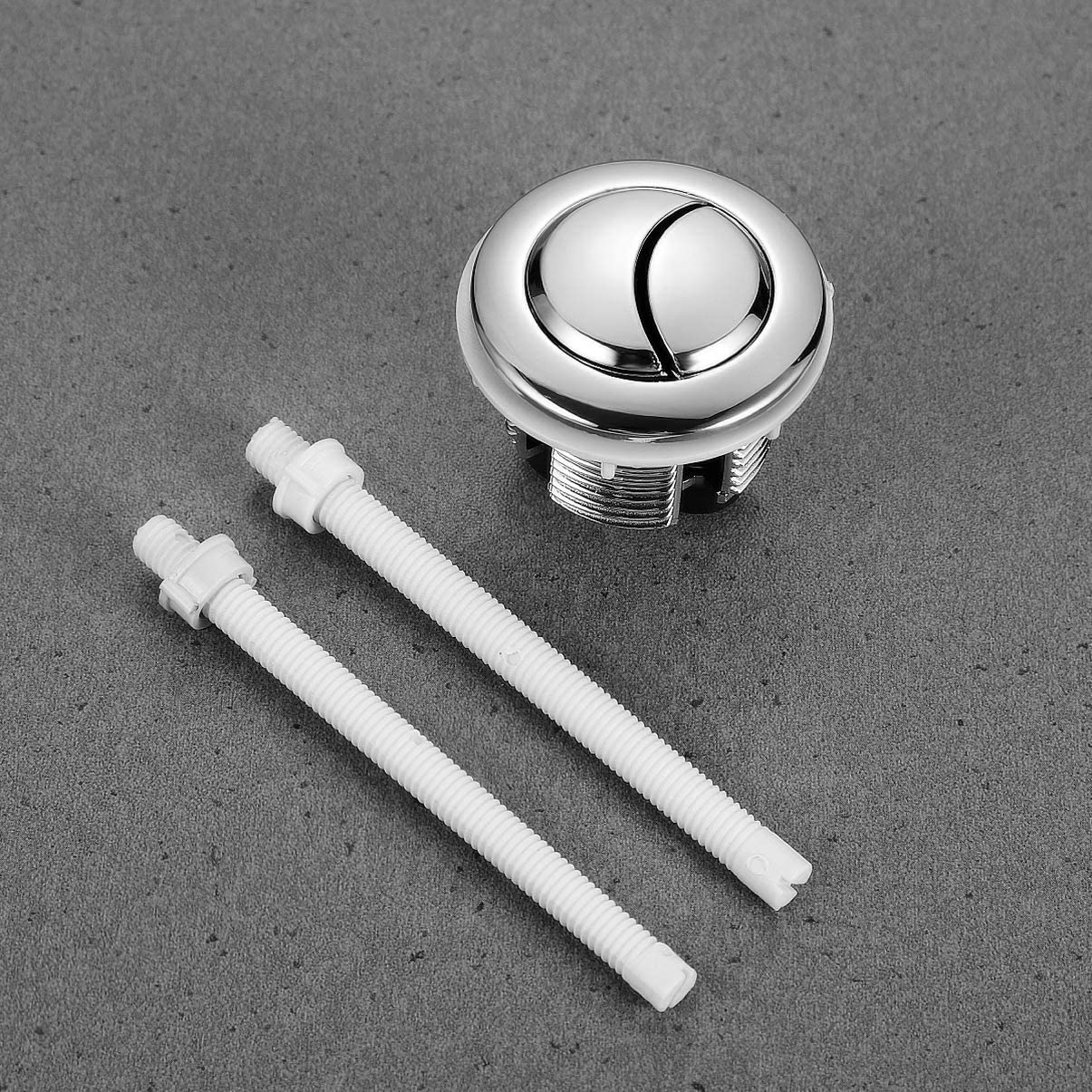 TOPBATHY 38mm Toilet Dual Push Flush Toilet Water Tank Push Button Toilet Button Replaced Flush Button with Diameter for Shower Room Toilet Bathroom