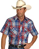 Wrangler Men's Short Sleeve Assorted Stripe Or Plaid Western Shirts - 76204Pp