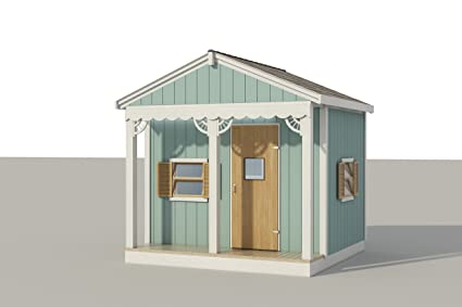 8 X 8 playhouse plans DIY Plans Fun to build cubby Amazon – Playhouse With Garage Plans