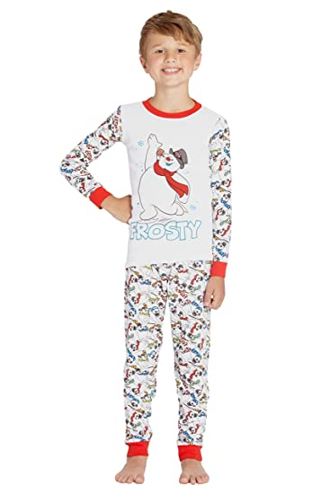 Frosty the Snowman Boys Girls Kids Holiday Cotton Pajama Set 0efb11ca9