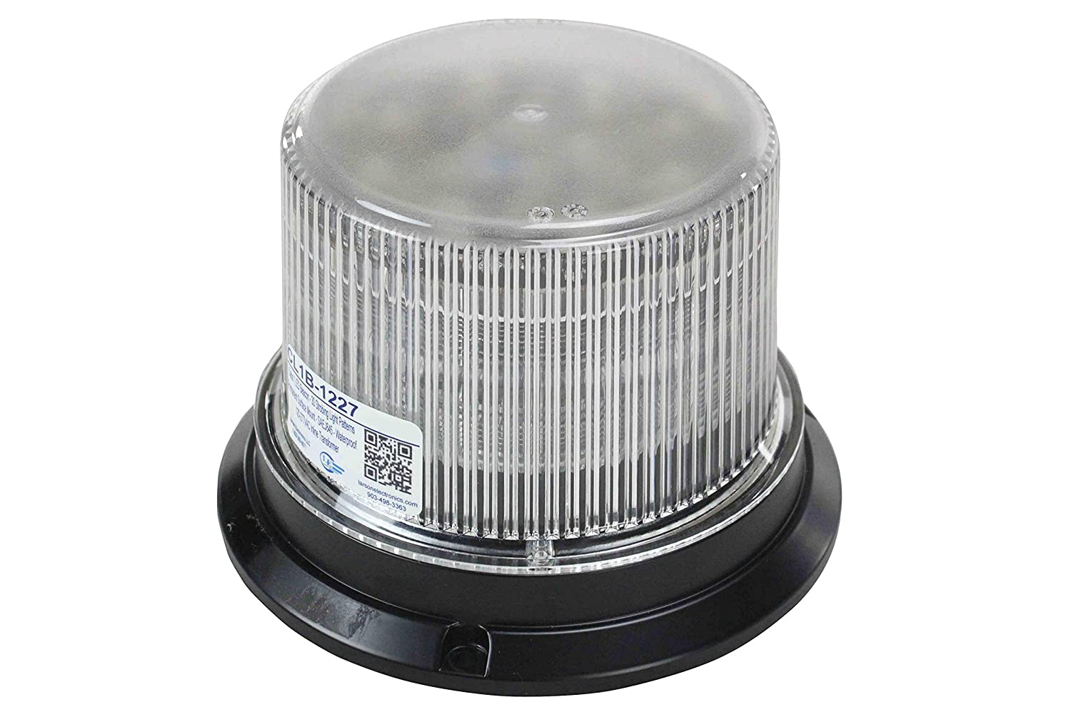 Larson Electronics 0522PG73QHS Class 1 LED Beacon with 30 Strobing Light Patterns 120//277 Permanent Surface Mount Green 1440 lm 0522PG73W04