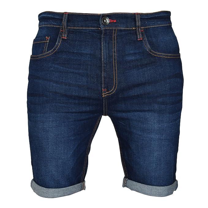 Pantalones vaqueros cortos para hombre, con elastano, superelásticos