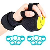 REAQER Grip Strength Ball Finger Device Training Equipment Anti-Spasticity Ball...