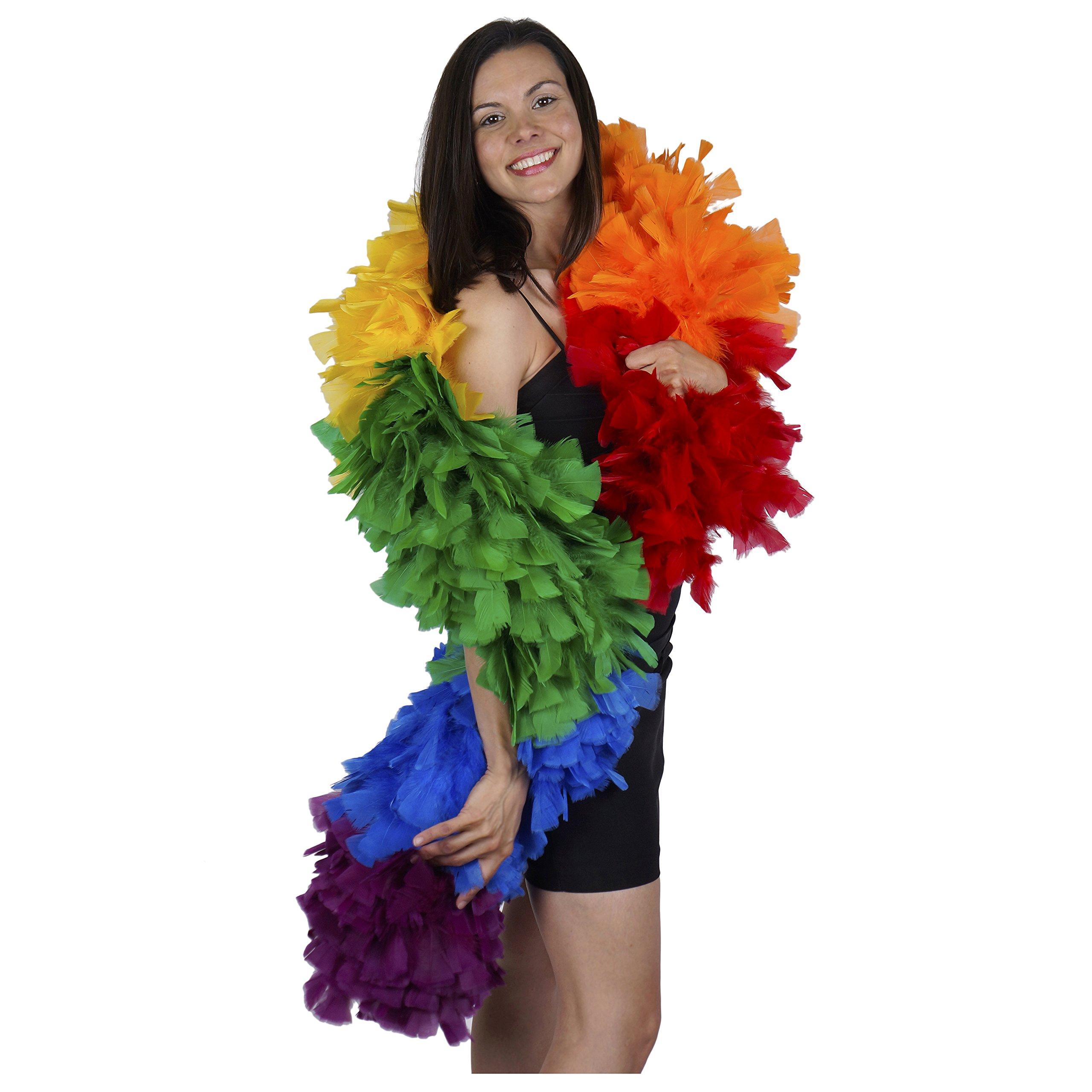 Zucker Feather (TM) - Turkey Boas Sectional Colors - Rainbow Mix