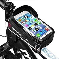 LIDIWEE Borsa Telaio Bici, Wheel Up 6 inch Porta Cellulare Bici, Borsa da Manubrio per Biciclette, Borse Biciclette Supporto Bici MTB BMX, Accessori Bici