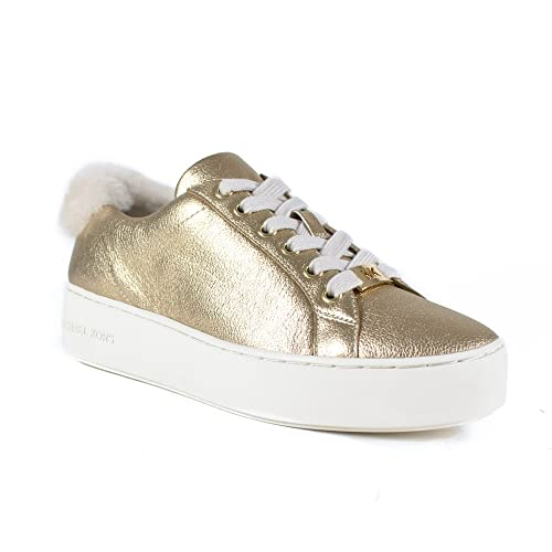 Michael KORS 43F7POFS1M Mujer Zapatos de Plataforma Zapatillas de Amapola ATA para Arriba Oro Talla 39 Oro: Amazon.es: Zapatos y complementos
