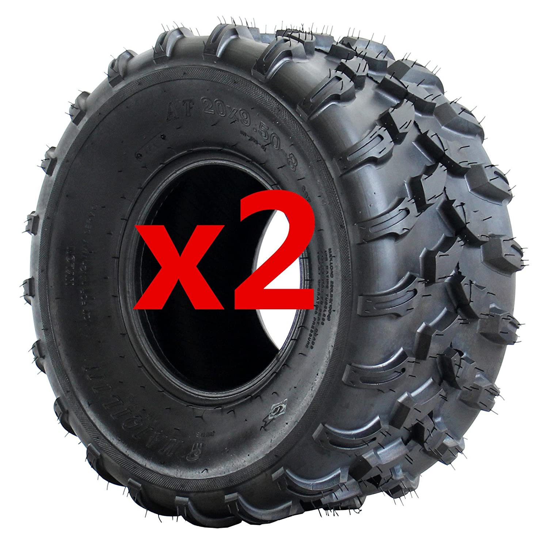 AR DONGFANG Pair of ATV Tires 20x9.5-8 Quad UTV Go Kart Tires ATV Tire 4PR Tubeless 2pcs MOTOR HQ ATV tires:20x9.5-8