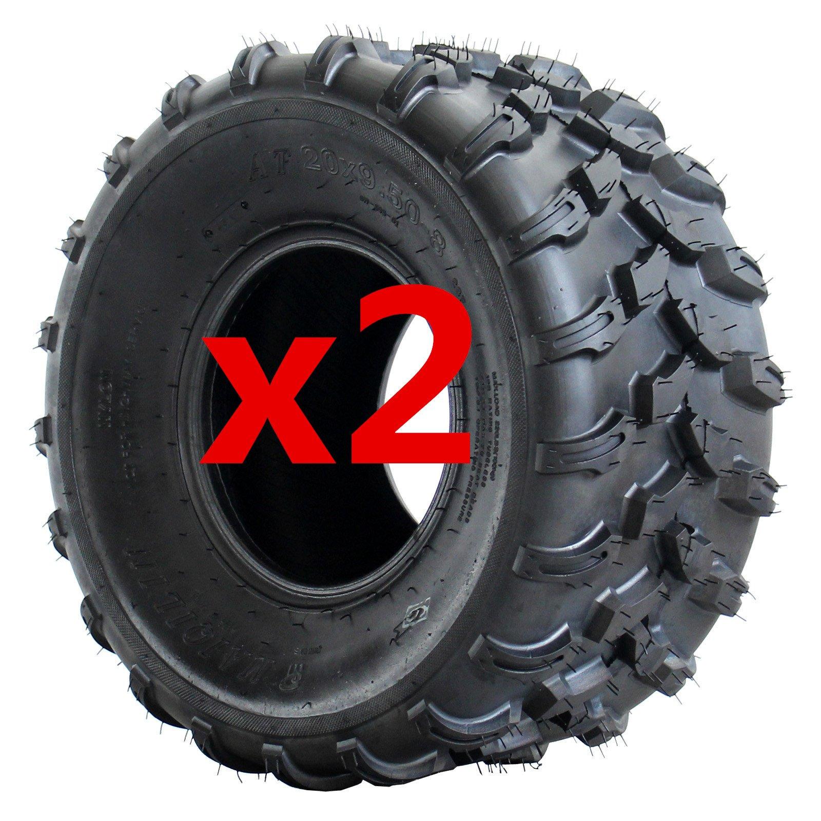 AR DONGFANG 2PCS ATV Tires 18x9.5-8 Quad UTV Go Kart Tires 18x9.5x8 ATV Tire 18x9.50-8 4PR Tubeless