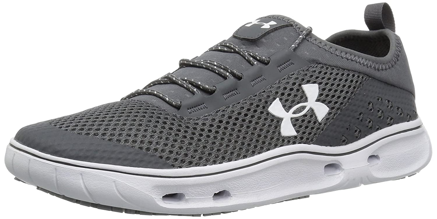 Under Armour Women's Kilchis Sneaker B01MT3L0VB 10 M US|Rhino Gray (076)/White