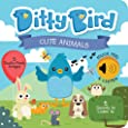 Ditty Bird Our Best Interactive Touch and Feel Cute Animals Book for Babies, 1 Year Old & Toddler. Educational Toys for Boy and Girl with 5 Textures to Touch and 5 Sounds to Listen to.