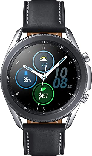 Samsung Galaxy Watch 3 (45mm, GPS, Bluetooth), Mystic Silver (US Version with Warranty)