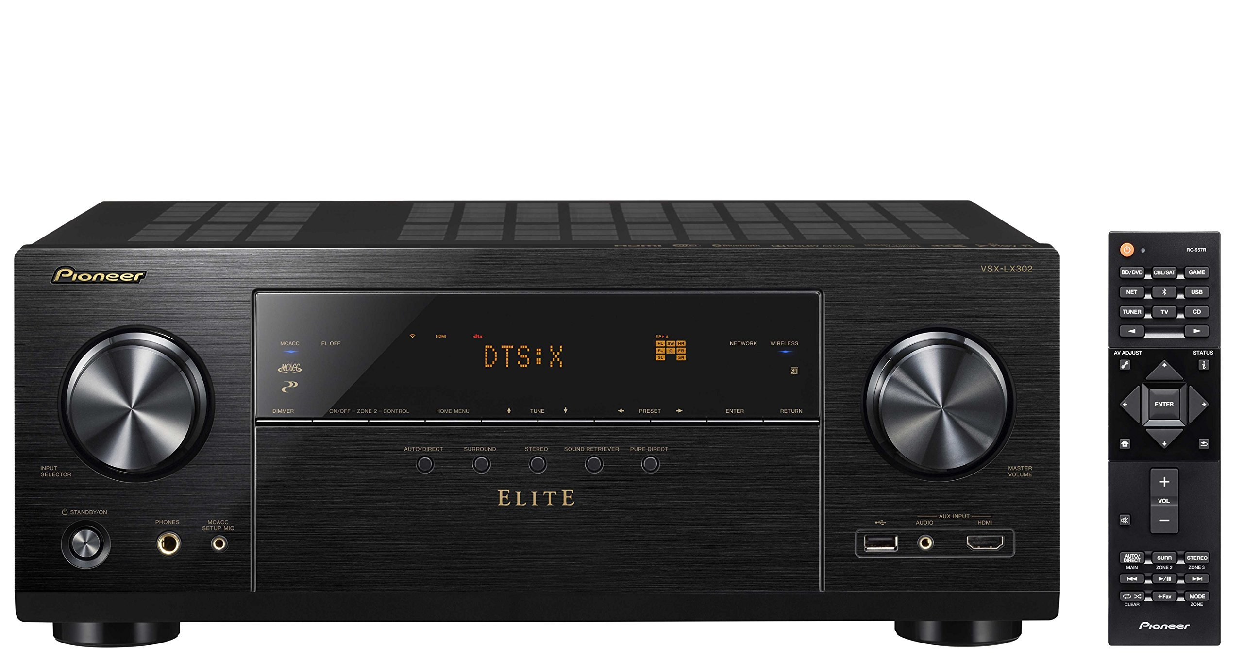 Pioneer Elite Audio & Video Component Receiver black (VSX-LX302) (Renewed)