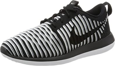 100% authentic various design outlet store sale Amazon.com | Nike Womens Roshe Two Flyknit Running Shoes-Black-8 ...
