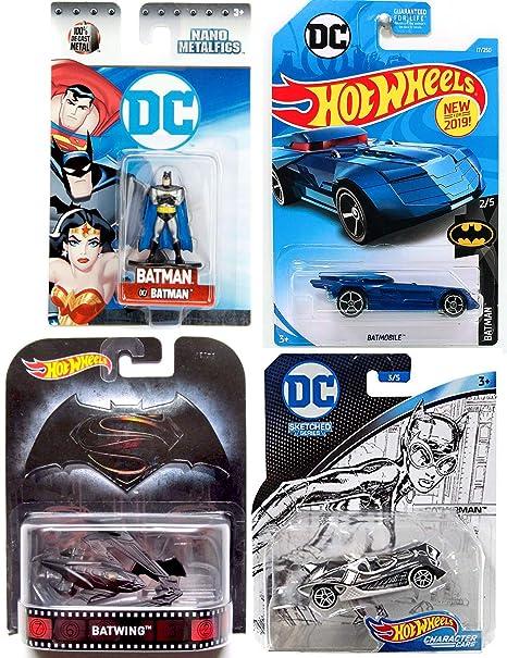 Amazon com: 2019 Batmobile Hot Wheels Batman 1:64 Diecast Car Bundle