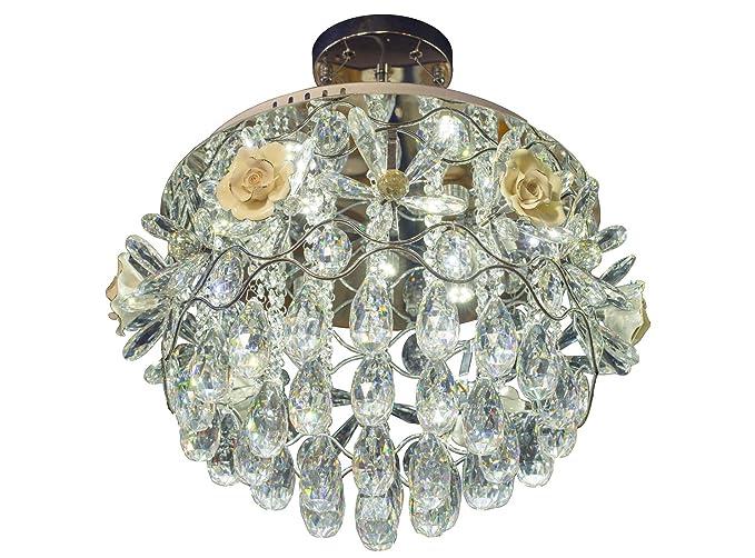 Plafoniere Cristallo Prezzi : Lampadario plafoniera metal egiziano cristallo di rocca con 9