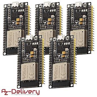 5x ESP32 AZDelivery ESP32 NodeMCU Module Wi-Fi carte de d/éveloppement avec CP2102 d/énergie ultra basse ESP-32 successeur du mod/èle ESP8266