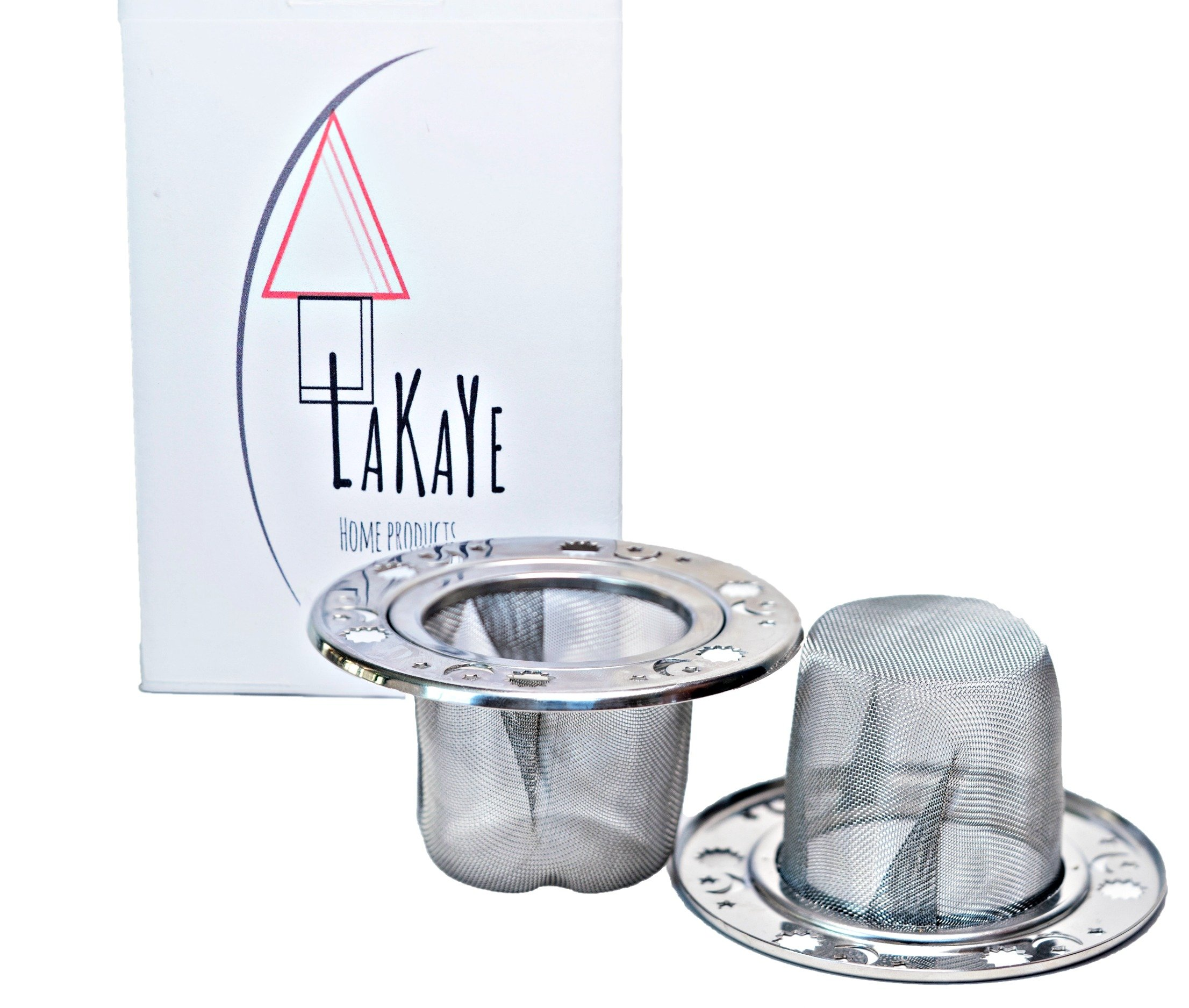 Tea Strainer Set of two by Lakaye Home Products: Fine mesh infuser for green tea, in a cup, or teapot. Steep herbal tea in this stainless steel strainer. ''Your Mom will love this'' Mother's Day Gift