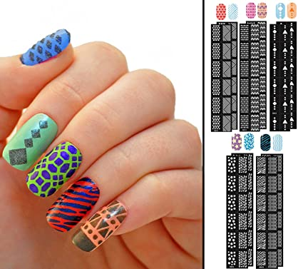 Amazon Sb 120 Piece Nail Art Variety Bundle Nail Vinyls
