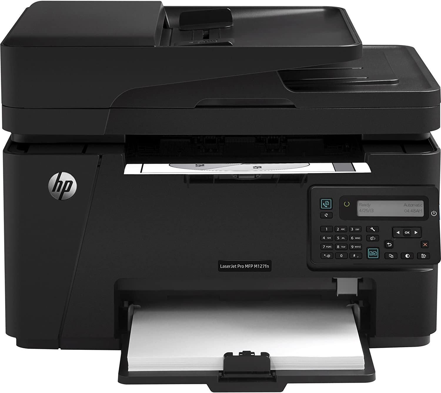 HP LASERJET PRO MFP M127fn - Print speed up to 21 ppm black. Scan resolution up to 1200 x 1200 dpi hardware and up to 1200 x 1200 dpi optical. Copy resolution up to 600 x 600. 2 line LCD text display.
