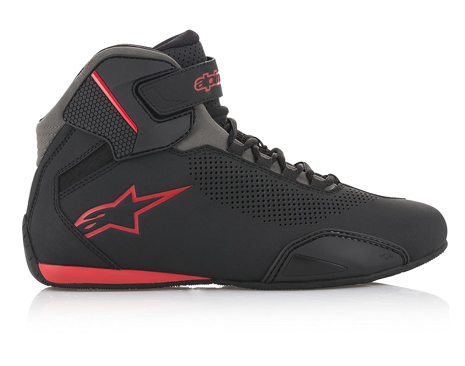Alpinestars Mens 251561813111 Shoe Black//Grey//Red Size 11