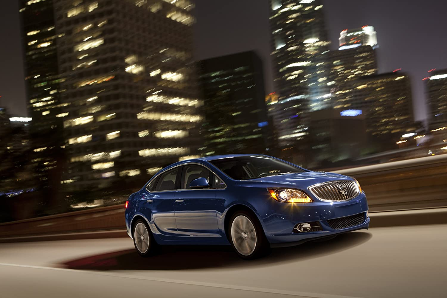 Amazon.com: Buick Verano Turbo (2013) Car Art Poster Print on 10 mil Archival Paper Blue Front Side Night Motion View 24