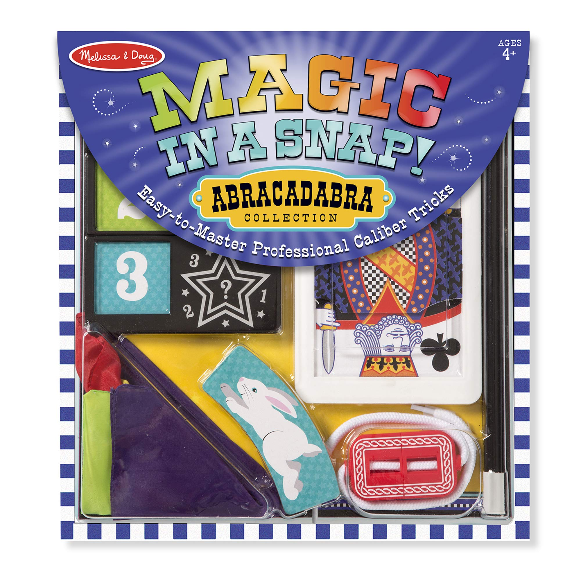 Melissa & Doug Magic in a Snap! Abracadabra Collection Magic Tricks Set (10 pcs) by Melissa & Doug