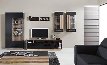 TV Wohnwand, TV Tisch Set, Wohnzimmer Set U0026quot;MONSUNu0026quot; Große