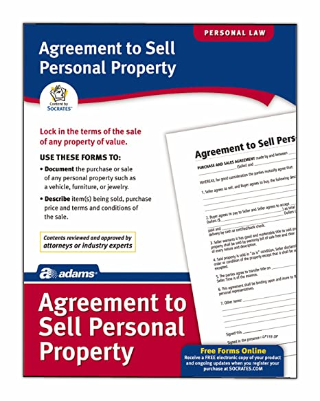 Amazon Com Adams Agreement To Sell Personal Property Form 8 5 X