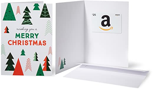 Amazon.com: Amazon.com $25 Gift Card in a Greeting Card (Christmas ...